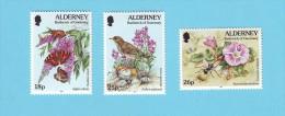 ALDERNEY PAPILLONS OISEAUX FLEURS 1997 / MNH** / CV 26 - Altri