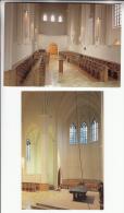 BELGIQUE Forges - Chimay : Abbaye ND De Sourmont - Petit Lot De 2 CPSM CPM GF : Choeur Et Intérieur - Chimay