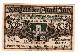 Billet - Nogeld Der Gradt Zutz, 1921, 10 Pfennig - [11] Local Banknote Issues