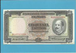 MOZAMBIQUE - 50 ESCUDOS - 24.07.1958 - P 106 - EDUARDO COSTA - 8 Digits - Sign Varieties - PORTUGAL - Mozambique