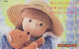 Télécarte Japon - Jouet - POUPEE & NOUNOURS / Spring Collection - DOLL & TEDDY BEAR Japan Phonecard - PUPPE - 17 - Jeux