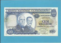 MOZAMBIQUE - 100 ESCUDOS - 23.05.1972 - P 113 - GAGO COUTINHO E SACADURA CABRAL - Mozambique