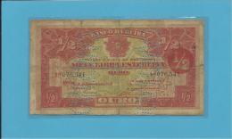 MOZAMBIQUE - 1/2 LIBRA ESTERLINA - 15.09.1919 - Pick R5 - BANCO DA BEIRA - PORTUGAL - Mozambico