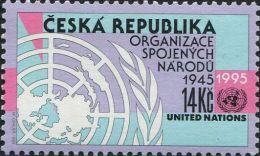 CZ1700 Czech Republic 1995 UN Emblem Map 1v MNH - Neufs