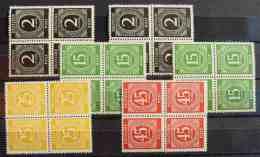 (1045902) Deutsche Post Bogenteile, 24 Marken, Ungebraucht, Siehe Bitte Bilder - Zone AAS