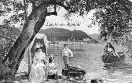 [DC7368] RIMINI - SALUTI DA RIMINI - COSTUMI - Viaggiata - Old Postcard - Rimini