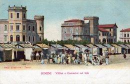 [DC7370] RIMINI - VILLINI E CAMERINI SUL LIDO - Old Postcard - Rimini