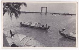 Carte-Photo - Inde - Pont Du Thoppumpady (jonques Au Premier Plan) - Kochi/cochin - Pas Circulé - Postales