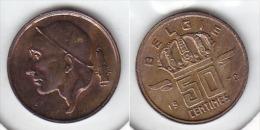 50 CENTIMES Bronze Baudouin 1972 FL - 03. 50 Centimes
