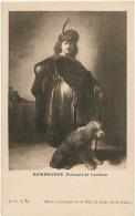 Rembrandt Auto Portrait Avec Son Chien Griffon Des Flandres - Chiens