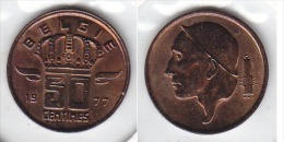 50 CENTIMES Bronze Baudouin 1977 FL - 03. 50 Centesimi