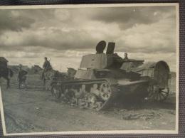 WW2 Original Photo - GERMAN ARMY CARRO ARMATO SOVIETICO DISTRUTTO Formato 11,5 X 8 Cm (2) - Weltkrieg 1939-45