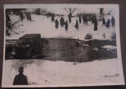 WW2 Original Photo - GERMAN ARMY FRONTE RUSSO PASSAGGIO FIUME Formato 10 X 7 Cm - Weltkrieg 1939-45