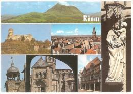 Dépt 63 - RIOM - (CPSM 10.5x15cm) - Multi-vues - Riom