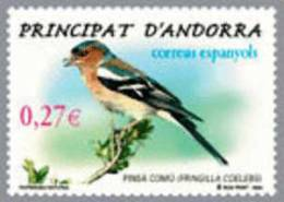 ANDORRA ESPAÑOLA 2004 - FAUNA PAJAROS - EL PINSA COMU - Edifil Nº 318 - Yvert 303 - Zangvogels