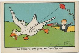 Benjamin Rabier Chromo  Le Canard Jouant Au Cerf-Volant Pike - Rabier, B.