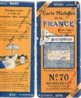 CARTE GEOGRAPHIQUE Michelin - N° 70 BEAUNE - EVIAN N° 2740-23 - Strassenkarten