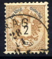 AUSTRIA 1883 Arms 2 Kr. Perforated 10½, Used.  Michel 44D - Used Stamps
