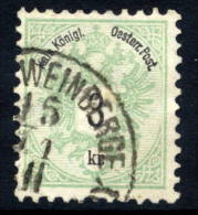 AUSTRIA 1883 Arms 3 Kr. Perforated 10½, Used.  Michel 45D - 1850-1918 Empire