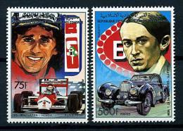 Rep. Des Comores ** N° 488/489  - A. Prost Et Mac-Laren - Honda, E. Bugatti Et Bugatti Aravis - Comores (1975-...)