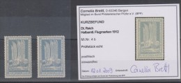 D.R.Halbamtliche Flugmarken Nr.4a,b,xx, 4b Mit Befund Brettl - Deutschland
