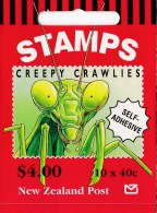 New Zealand 1997 Creepy Crawlies Booklet MNH - See 2nd Scan B - Booklets
