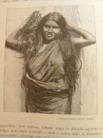 India - Pondichéry  Puducherry, Pondicherry - Tamil Girl   Print  Ca 1900 - AFK.55 - Estampes & Gravures