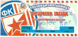 Sport Match Ticket (Football / Soccer) - Red Star Belgrade Vs Rotor Volgograd: Cup UEFA 1998-08-11 - Tickets D'entrée