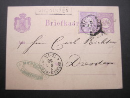 1880, Stationsstempel GRONINGEN, Auf Karte - Postal Stationery