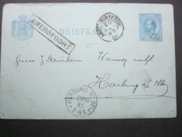 1885, Stationsstempel  AMERSFOORT, Auf Karte - Postal Stationery