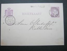1881, Stationsstempel  VARSSFVELD, Auf Karte - Postal Stationery
