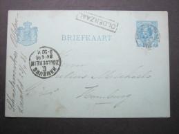 1886, Stationsstempel  KOLDENZAAL Auf Karte - Postal Stationery