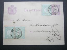 1879, Karte Aus BRIELLE - Postal Stationery
