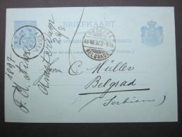 1897, Karte Nach Serbien - Postal Stationery