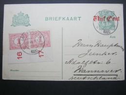 1920, Ganzsache Aus Amsterdam - Postal Stationery