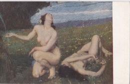 LA SORGENTE ETTORE TITO  NUDO D´ARTE_NUDI ARTISTICI NUS NU NAKED AUTENTICA 100% - Paintings