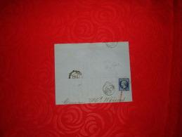 LETTRE ANCIENNE DE 1856 / RAPP & P. CESSIER COURTIERS MARITIMES / ROUEN A PARIS / CACHETS + TIMBRE BLEU NOIR NAPOLEON - Marcophilie (Lettres)