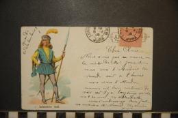CP, Militaria, Costume, Soldat, Militaire,  Infanterie 1415 N°1 Edition ? Dos Simple Precurseur 1903 TRES RARE - Oorlog 1914-18