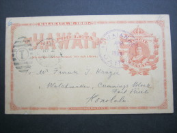 1893, WAIANAE, Seltener Stempel Auf Karte - Hawaii
