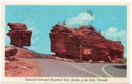 CP, ETATS-UNIS, COLORADO, Balanced Rock And Steamboat Rock...Voyagé En 1971 - Etats-Unis