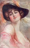 CPA -  PORTRAIT DE  FEMME  - Au Dos  Cachet Librairie - Papeterie  U. LEROY - MONTLUCON (03) - Femmes