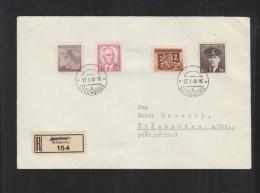 Czechoslovakia Registered Cover 1946 Stechovice - Briefe U. Dokumente
