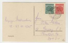 West Sachsen Michel No. 124 - 125 Y gestempelt used auf Karte