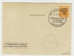 SBZ Michel No. 191 gestempelt used auf Karte P�dagogischer Kongre� 1948