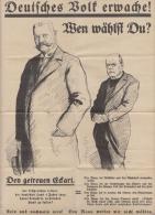 Wahl-Blatt Wählt Hindenburg - Plakate