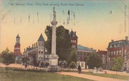 Ohio Mount Vernon Public Park Showing North East Corner 1908