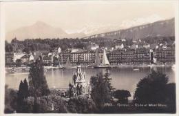 Switzerland Geneve Rade Et Mont Blanc Real Photo - GE Geneva