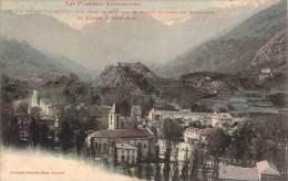 09 - Ax-les-Thermes - Vue Prise De La Route De Prades Et Fond Des Montagnes De Merens Et D'Andorre (aquarellée) - Ax Les Thermes