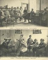Lobbes - Pensionnat De La Visitation -Ecole Ménagère Et Salle D´Arts ( Dessin )  2 Cartes - Lobbes