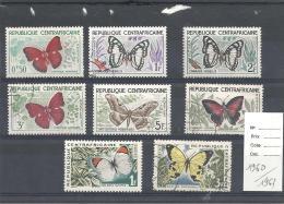 CENTRAFRIQUE - N° 1960 / 1963 -Papillons - Schmetterlinge
